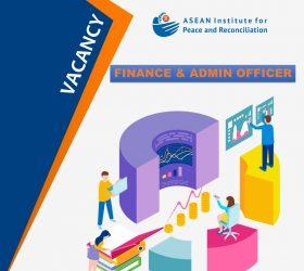 ASEAN-IPR Vacancy - Finance & Admin Officer