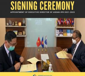Signing Ceremony: Appointment of Executive Director of ASEAN – IPR 2021 – 2023