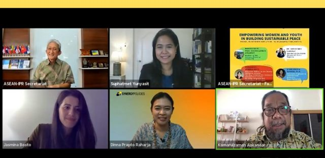 ASEAN-IPR DISCUSSION SERIES: EMPOWERING WOMEN AND YOUTH IN BUILDING SUSTAINABLE PEACE