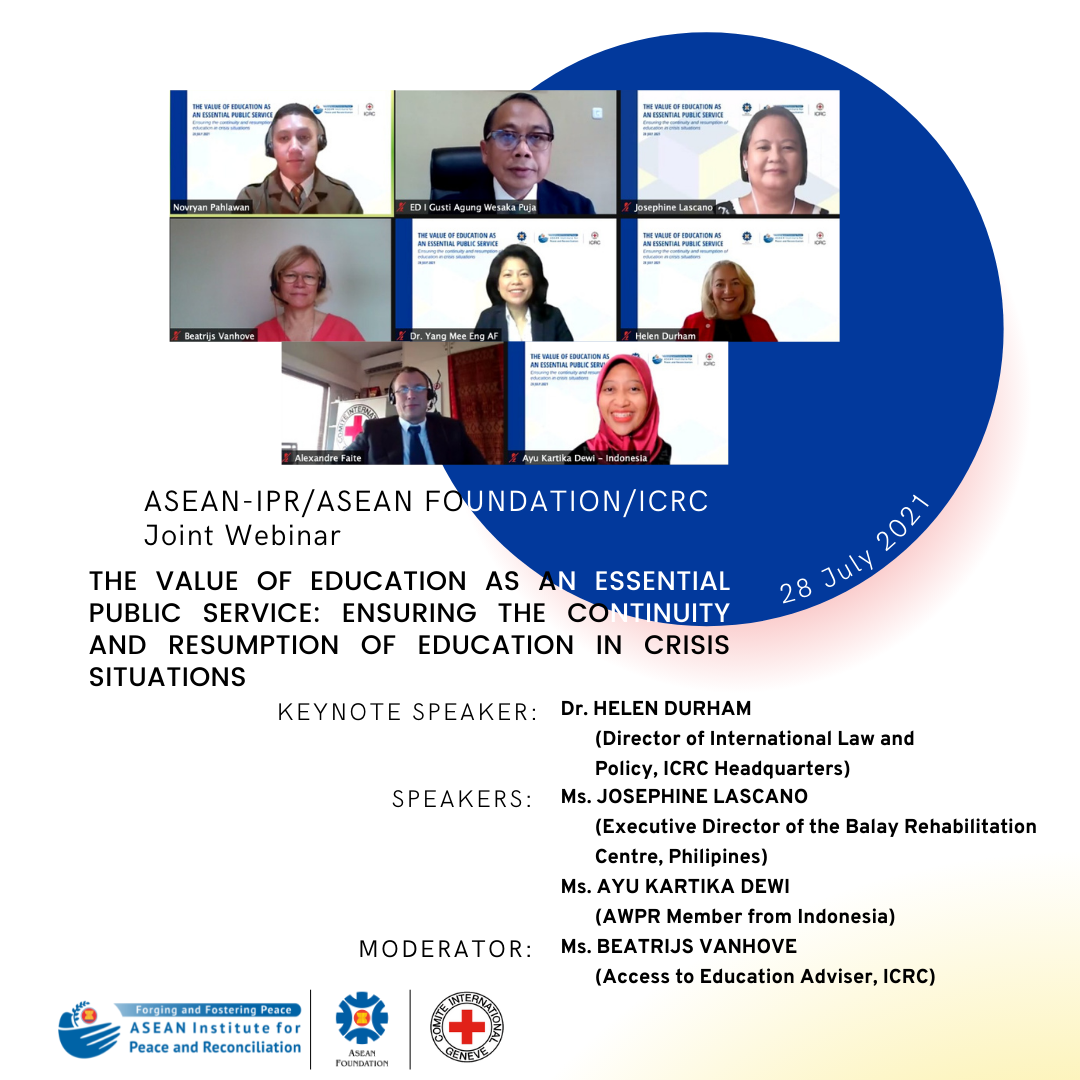 Ensuring the Continuity and Resumption of Education in Crisis Situations